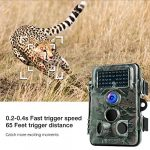 APEMAN Trail Camera 12MP 1080P HD Game&Hunting Camera with 130° Wide Angle Lens 120° Detection 42 Pcs 940nm Updated IR LEDs Night Version up to 20M/65FT Wildlife Camera with IP66 Spray Water Protected