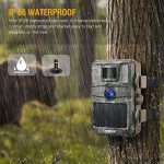 Campark Trail Camera 14MP 1080P Game&Hunting Camera Night Vision Motion Activated up to 20m with 2.4″ LCD 44 Pcs Invisible IR LEDs IP66 Waterproof Design for Wildlife Hunting and Home Security
