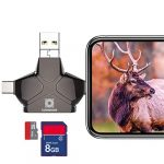 Climbose Trail Camera SD Card Reader Fits Android iPhone iPad Mac MP3 USB Connection Multi-System Compatible Micro Memory Hunting Pictures Videos Viewer