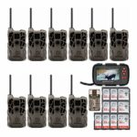 Stealth Cam XV4WF 30MP Wi-Fi and Bluetooth Trail Cameras 10-Pack with 32GB Memory Cards and Image/Video Viewer Bundle (22 Items)