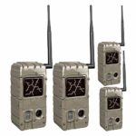 Cuddeback CuddeLink Power House IR 20MP Trail Cameras 4-Pack with Battery Boosters, Memory Cards, and Focus Reader Bundle (10 Items)
