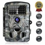 FUNSHION Trail Game Camera 16MP 1080P Waterproof IP66 Hunting Came for Wildlife Monitoring with 120°Detecting Range Motion Activated Infrared Night Vision 2.4'' LCD 42pcs IR LEDs