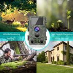 Trail Camera 1080P Waterproof Hunting Scouting Cam for Wildlife Monitoring with Motion Activated Night Vision up to 65ft/20m, 120°Detect Range, 36pcs 940 Infared LEDs, 0.3s Trigger Speed