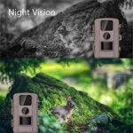 Wildlife Camera, Hunting Game Trail Camera Surveillance IP66 Waterproof 12MP 1080P HD with 20M Night Vision, Motion Activated, for Wildlife Tracking Detection