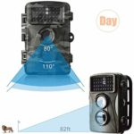 Wildlife Hunting Camera, 12MP 1080P HD Trail Game Camerawith Night Vision Motion, Motion Activated, 0.5S Trigger Speed, IP56 Waterproof Camera for Outdoor Wildlife Monitoring