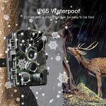 YINGBO Trail Game Camera – 20MP 1080P Hunting IP65 Waterproof WiFi APP Remote Camera with Night Vision,0.3s Trigger Time & 120° Wide Angle Lens,Motion Activated for Wildlife Monitoring