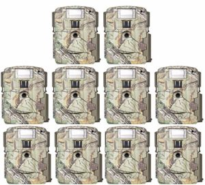 (10) Moultrie Xenon Strobe White Flash D-80 Mini 14MP Digital Trail Game Cameras