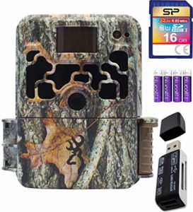 blucoil Browning Trail Cameras BTC-6HDX Dark Ops Extreme 16MP Game Cam Bundle with USB 2.0 Card Reader, Silicon Power 16GB Class 10 SDHC SD Card 4 AA Batteries