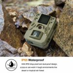 Bolyguard WiFi Wireless Trail Game Camera 12MP 720P HD Infrared Hunting Camera with Night Vision Motion Activated Outdoor Deer Surveillance Camera IP65 Waterproof & WiFi SD Card (SG520-W) (Renewed)