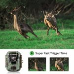 Campark Mini Trail Game Camera with Night Vision 1080P 12MP Waterproof Wildlife Monitor for Scouting Hunting 120°Detecting Range Motion Activated 2″LCD Display-20M IR LED