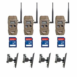 Cuddeback 20MP Game Camera (4 Pk) + 16GB SD Card (4 Pk) + Camera Mount (4 Pk)
