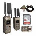 Cuddeback CuddeLink Dual Cell 20MP AT&T Trail Camera with Security Box and Cable Lock, Card and Card Reader Bundle (5 Items)