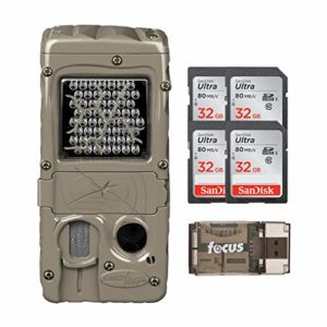 Cuddeback G-Series Powerhouse IR 20MP Trail Camera with 32 Gb Memory Card and Focus Reader Bundle (6 Items)