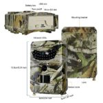 FORNORM Hunting Camera, Trail Game Camera with Night Vision Motion 1080P 15m Waterproof Ip56 110 PIR Degree Wide Angle (Autumn Yellow)