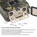 S28esong IP56 Wildlife Trail Camera,1080P HD Infrared Night Vision Hunting Camera,Waterproof HD Night Vision Rear Camera,for Wildlife Monitoring, Garden,Home Security Surveillance