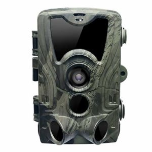 Jiaji HC801A Hunting Camera 16MP Trail Camera IP65 Photo Traps 0.3s Trigger Time,Waterproof,940nm Wild Camera with 3 Infrared Sensors 1080P
