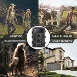 Yarnow 16MP 0.3s Trail Camera Waterproof Game Hunting Cameras 42 IR LEDs Outdoor Camcorder with Night Vision for Wildlife Monitoring Farm Security (Camouflage)
