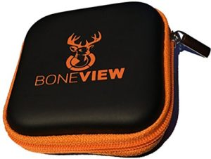 BoneView Weather-Resistant Storage Case for Trail Camera Card Reader and SD Cards (Black, 3″x 3″)
