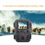 COLTD Mini Wildlife Camera 1080P, 12MP 1080P Outdoor Wildlife Infrared Night Vision Reconnaissance and Hunting Camera with PIR Sensor 0.45s Quick Trigger