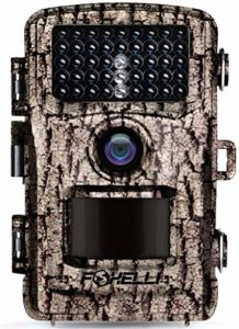 "Foxelli Trail Camera – 12MP 1080P Full HD Wildlife Scouting Hunting Camera with Motion Activated Night Vision, 120° Wide Angle Lens, 42 No Glow IR LEDs and 2.4"" LCD screen, IP66 Waterproof Game Camera"