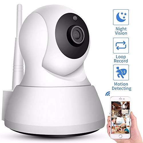 Home Security IP Camera Wi-Fi 1080P 720P Wireless Network Camera CCTV Camera Surveillance P2P Night Vision Baby Monitor (Plug Type : EU Plug, Sensor Size : 720P Add 32G Card)