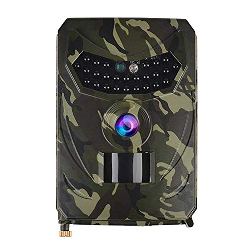 Sander Trail Camera, 1080P 32GB Wildlife Kamera, Waterproof Game Hunting Camera, with 120 ° Wide Angle Night Vision for Animal Observation Monitoring Security at Home