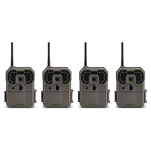 Stealth Cam GXW 12MP 1080p HD iOS & Android Wireless Game Trail Camera, 4 Pack