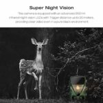 TOGUARD Trail Camera 20MP 1080P Hunting Game Cameras with Night Vision 130° Detection Motion Activated Waterproof Wildlife Hunting Cam with 0.3s Trigger Speed 2.4″ LCD IR LEDs