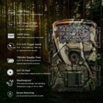 Trail Camera Hunting Game Camera, 2019 Upgraded Motion Activated Night Vision up to 65ft, 12MP 1080P Full HD Waterproof Wildlife Scouting Monitoring Home Security Camera, 88D (Trail Camera-Camo)