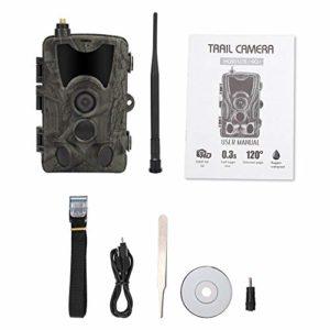 Trail Camera, Infrared Waterproof 3G MMS 1080P HD Hunting Trail Camera High Sensitivity Wildlife Night Vision Hunting Trail Camera