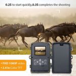 "Trail Game Camera 16MP 1080P Waterproof Hunting Scouting Cam for Wildlife Monitoring with 120°Detecting Range Motion Activated Night Vision 2.4"" LCD IR LEDs"