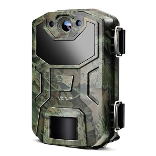 Victure Trail Game Camera 16MP Night Vision Motion Activated with Upgrade Waterproof Design 1080P Hunting Camera No Glow for Wildlife Hunting and Surveillance