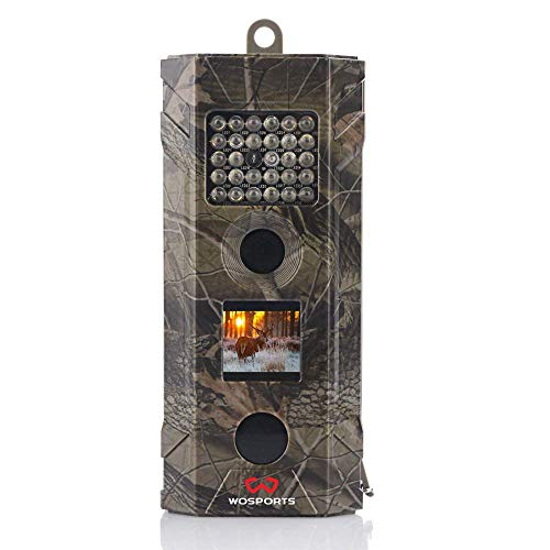 Wosports Trail Camera, 2018 Upgraded 1080P Hunting Game Camera, Wildlife Camera with Upgraded 850nm IR LEDs Night Vision 50ft for Home Security Wildlife Monitoring/Hunting