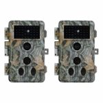 2-Pack Game Trail Camera No Glow 20MP 1080P H.264 MP4/MOV Video Night Vision 0.1S Trigger Motion Activated Easy Operate Waterproof Wildlife Hunting Deer Cam Password Protected Photo & Video Model