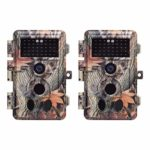 BlazeVideo 4-Pack 16MP 1080P No Glow Trail Game Camera 65ft Infrared PIR Sensor Distance 38pcs IR LED Night Vision Wildlife Deer Hunting Video Cams 2.4″ LCD Motion Activated IP66 Waterproof Protected