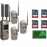 Cuddeback Cuddelink 3+1 Verizon Starter Kit 11513 Cellular Trail Cameras with 16 GB SD Cards & Decal