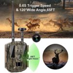KTYX Cellular Trail Camera, Wireless via Link App or Cell Provider, Invisible LEDs, Blur Reduction & IR Boost Tech, 2″ Screen, 0.3s Trigger, 100′ Detection & 80′ Flash Hunting Camera
