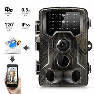 KTYX Game Camera, 16MP 1080P Hunting Wildlife Camera with Infrared Sensors IR LEDs Night Vision 0.5S Motion Activated IP65 Waterproof 2.0″ LCD Hunting Camera