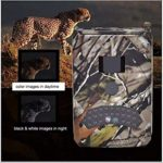 KTYX Ready to Use Trail Camera,12MP 1080P Mini Hunting Cam Motion Activated Night Vision No Glow IR LED IP56 Waterproof Cam for Wildlife Scounting Home Security Outdoor Surveillance Hunting Camera