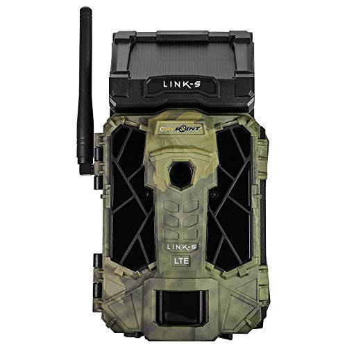 SPYPOINT LINK-S-V 12MP Solar Powered 4G LTE Verizon Cellular HD Video Hunting Game Trail Camera with 0.07s Trigger, 100-Foot Detection/Flash & LINK App Capability (5 Pack)