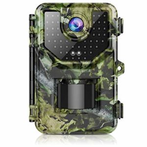 """Trail Camera, Hunting Camera with 120°Wide-Angle Motion Latest Sensor View 0.2s Trigger Time 1080P 16MP Trail Game Camera with 940nm No Glow and IP66 Waterproof 2.4"""" LCD 48pcs for Wildlife Monitoring"""
