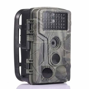 Akin Trail Camera 16MP 1080P No-Glow Infrared Hunting Camera,IP56 Remote Control Scouting Cam for Wildlife Monitoring with 120°Detecting Range Motion Activated