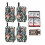 Browning Trail Cameras – Defender Wireless Pro Scout Cellular (16MP AT&T) SD Card and Reader Bundle, 4 Pack (9 Items)