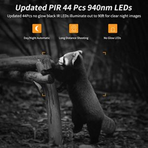 2020 Upgrade Trail Game Camera, PHOCOENA 20MP 1080P Waterproof Hunting Scouting Cam with Night Vision, 80FT Trigger Distance, 120° Wide Angle Lens, 3 PIR Sensors, 44Pcs IR LEDs, 2″ LCD with 32GB Card