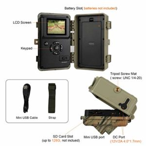 3pcs Wildlife Camera Pack Trail Cam 20MP 1080P H.264 Video 82ft Night Vision Motion Activated IP66 Waterproof