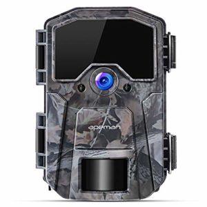 APEMAN Trail Camera 20MP 1080P Wildlife Camera, Night Detection Game Camera with No Glow 940nm IR LEDs, Time Lapse, Timer, IP66 Waterproof Design