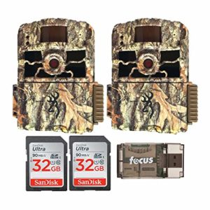 Browning Trail Cameras 18MP Dark Ops HD Max, 2 Pack – Base Bundle (5 Items)