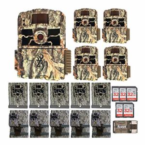 Browning Trail Cameras 18MP Dark Ops HD Max, 5 Pack – Essentials Bundle (21 Items)