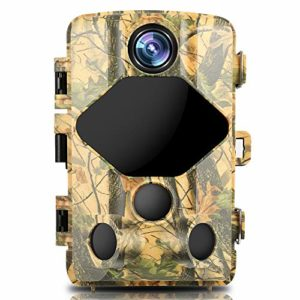 """BZK Trail Game Camera- Waterproof Hunting Scouting Cam 16MP 1080P with Night Vision, 120° Wide Angle Lens and 2.4"""" LCD IR LEDs for Wildlife Watching"""