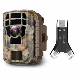 Campark Mini Trail Camera and SD Card Reader Bundle